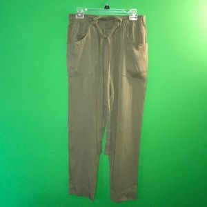Anthropologie army green high-waisted trousers